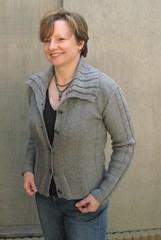 Norma wearing Drops 103-16 cardigan