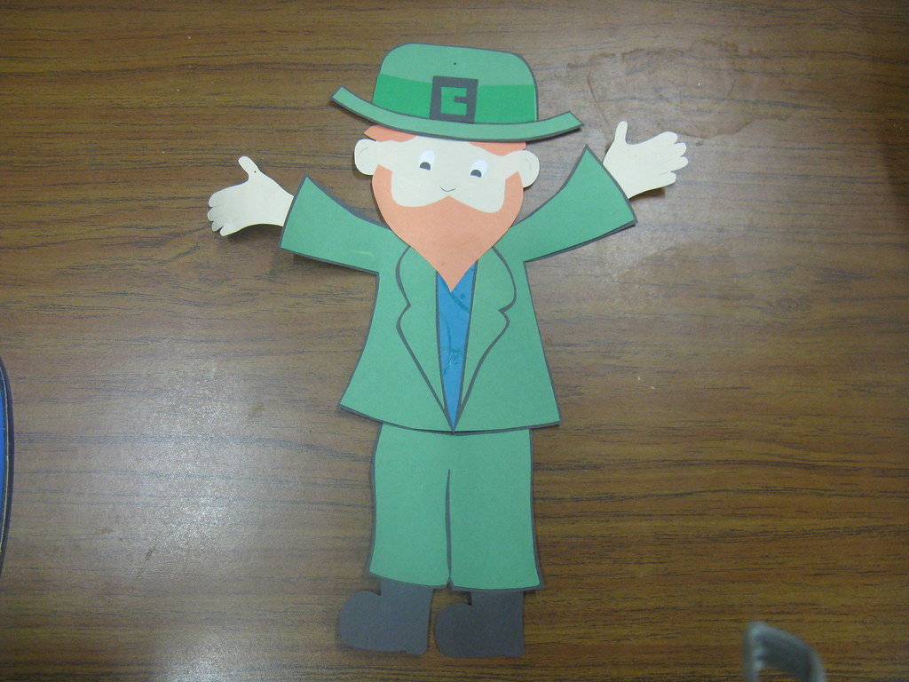 Leprechaun Paper Cut Out