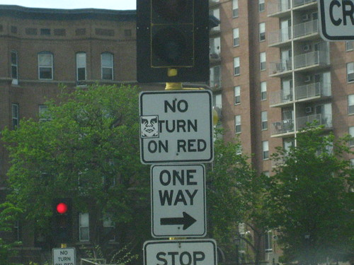 Obey Sticker - at a No Turn on Red by you.