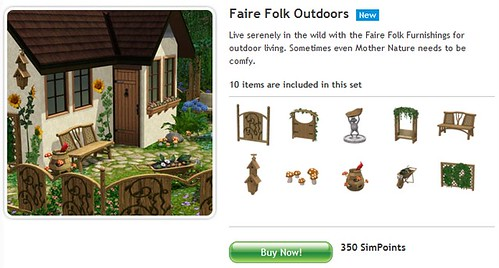 May 2010 - 4 New sets at The Sims 3 Store