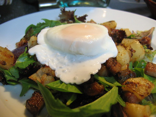 Salade Lyonnaise, also known as the breakfast salad.