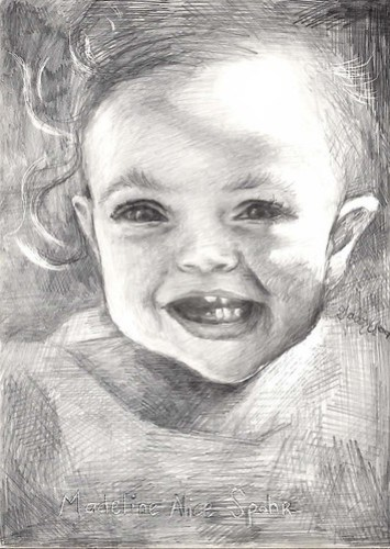 Maddie, by pencil