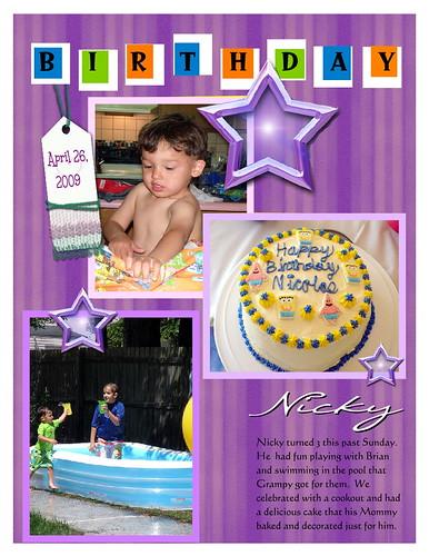 Nicky's 3rd Birthday