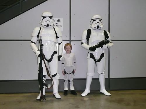 Kai and Stormtroopers by Lord Shaper.