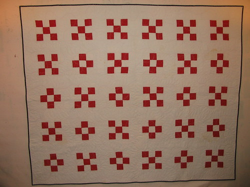 Kris red and white vintage quilt