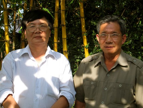 Military historian Ling Nguyen and Maj. Gen. Trang Ngoc Tho in Ho Chi Minh City. Photo M. Steinglass