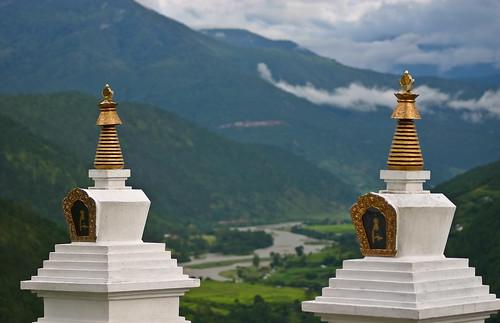 Miniature Chortens at Khamsum Yulley Namgyal