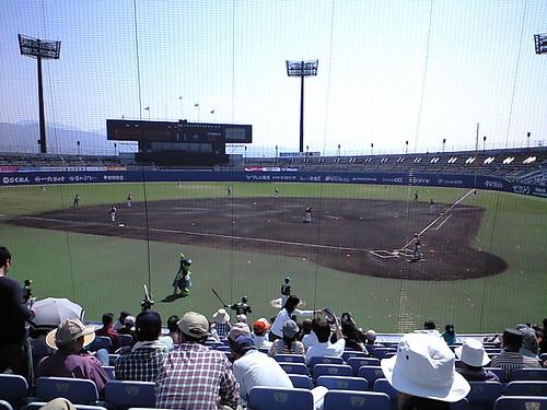 プレイボール@2009マンダリンパイレーツホーム開幕戦_ブロガー特別観戦ツアー_坊ちゃんスタジアム