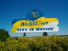 City of Wetaskiwin Weclome Sign