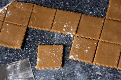 cutting the graham crackers