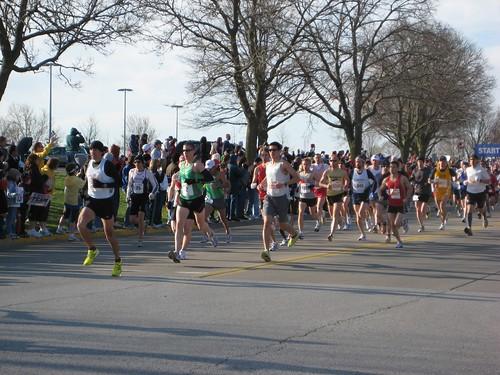 Marathon & half marathon start