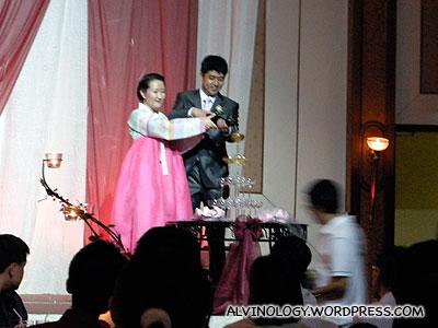 Er Kai and his Korean wife, Yoon Sun