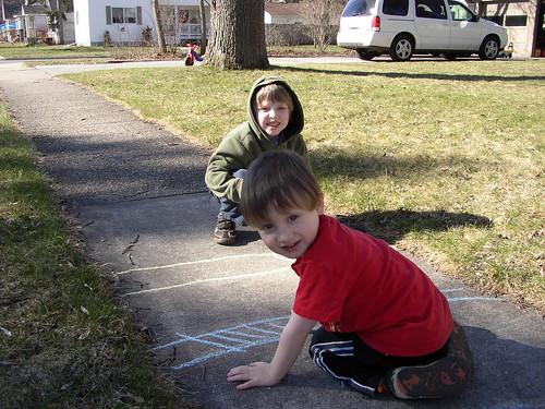 boys w/ chalk