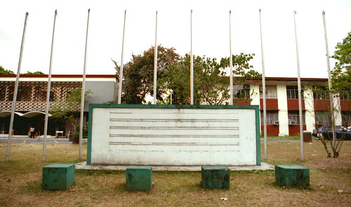 flagpoles and marquee sign board