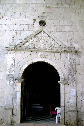 A beautiful door in the left portion of the church