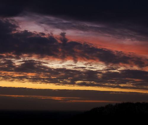 Dark Lane Sunset
