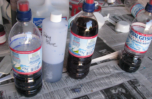Cheapo Plastic Bottles for Dyeing