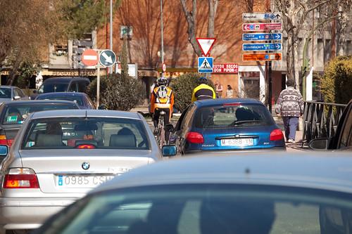 En medio del tráfico