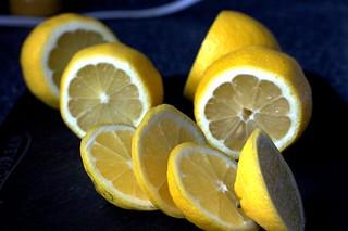 lemons, top quarters removed