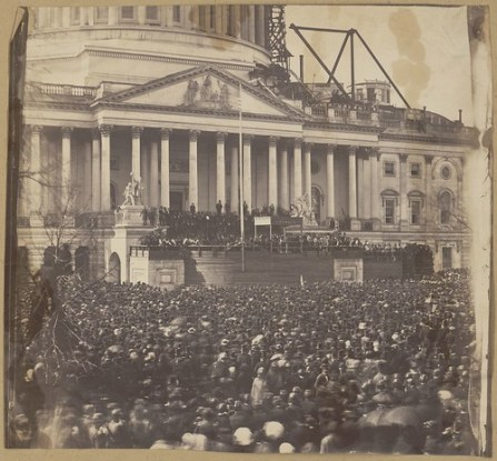 Inauguration of Mr. Lincoln, March 4, 1861 (LOC)