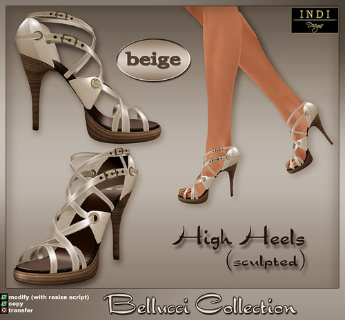 Bellucci High Heels-beige