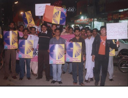 Pakistani students supporting human rights and TWO Rally