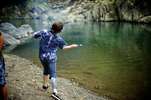 One of my favorite pastimes in Taiwan... skipping stones.