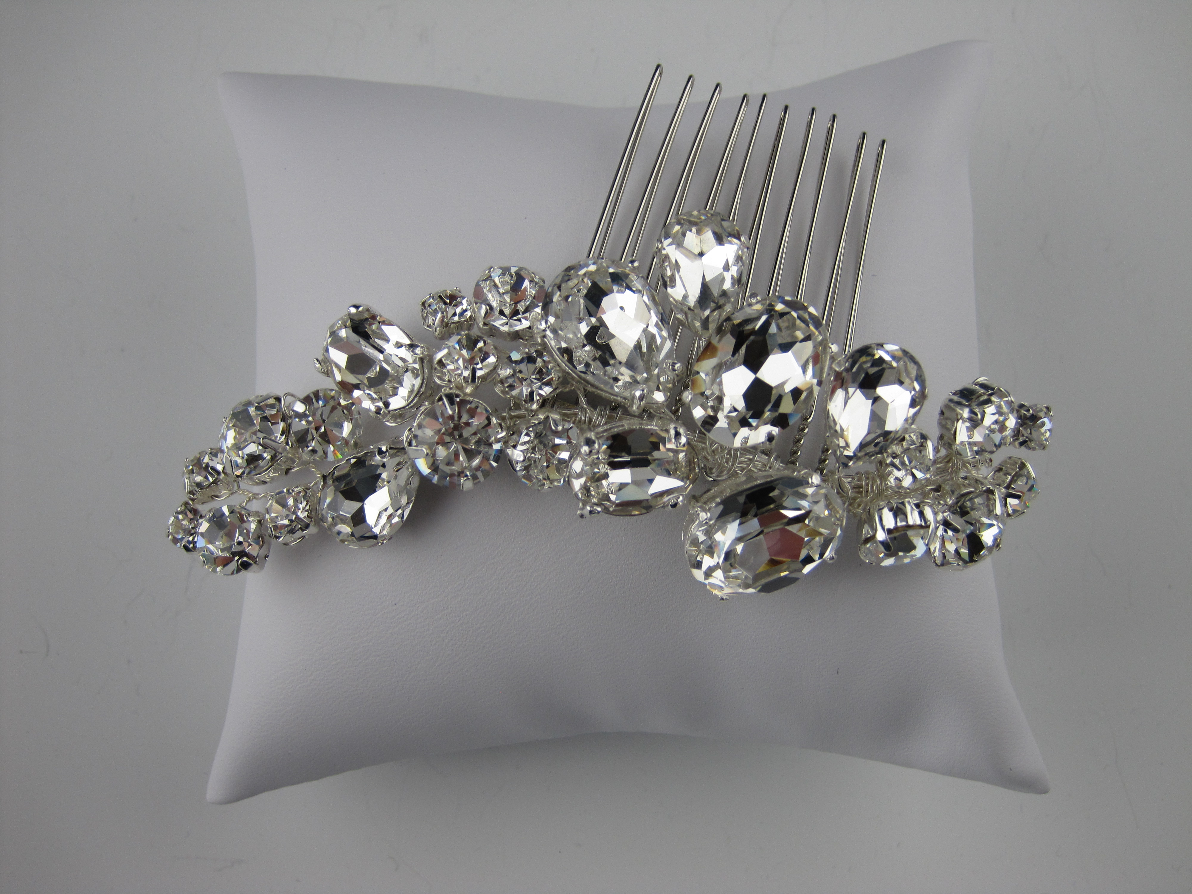 bling bridal comb one of a kind bridal hair comb hollywood glam bridal accessories