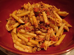 Spicy Cheddar Pasta with Beef