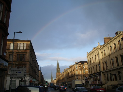 Four seasons in one day - Great Western Road, Glasgow