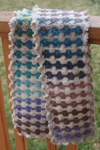 * Wow!  I love this scarf, its a lovely crochet pattern that sets off Noro so well.