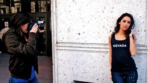 Lisa photographing Chantel