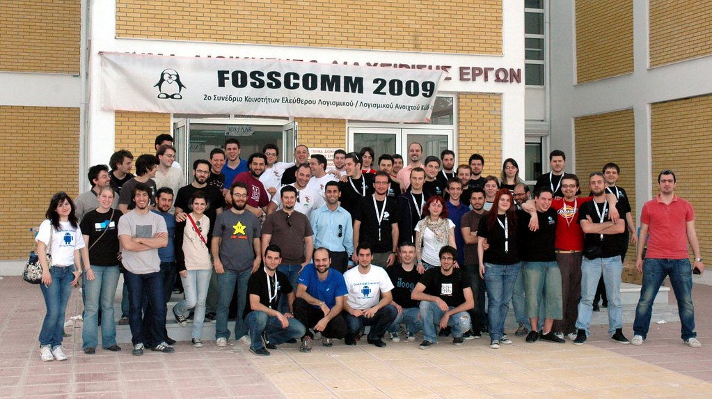 FossComm attendies, presenters, organizers etc all together :)