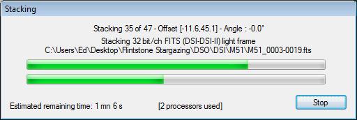 DSS Tutorial: Stacking Progress