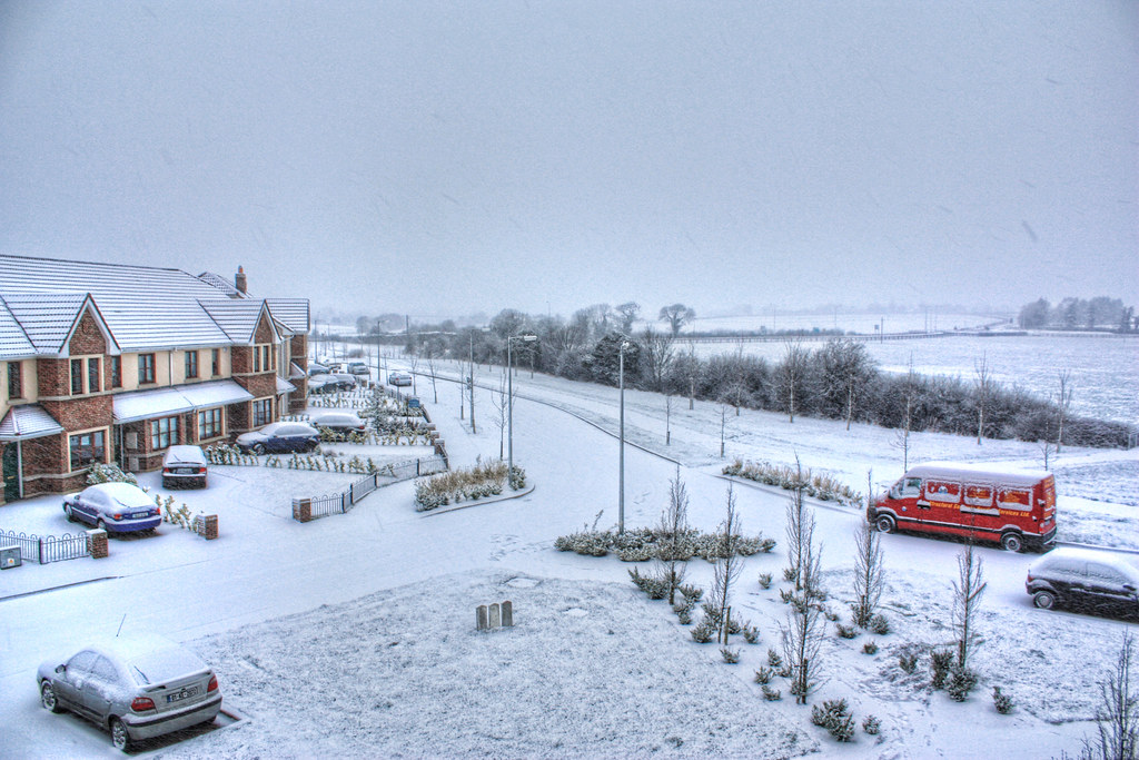 Snow in Kilcock - HDR