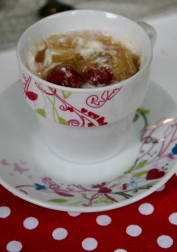 Rhubarb, Raspberry and Rose Foolish
