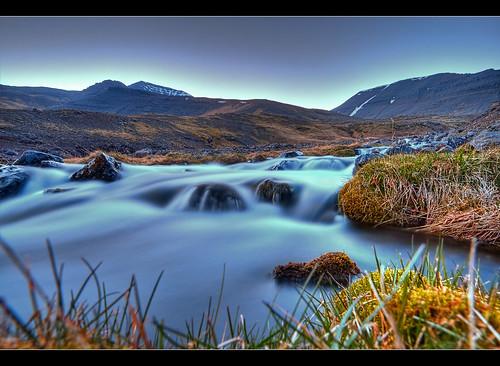 Milky Stream by Mt. Skarðsheiði