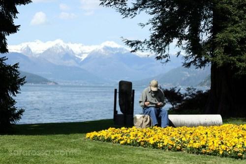 The real thinker, my dad, Villa Melzi Gardens, Bellagio, Lake Como, Italy