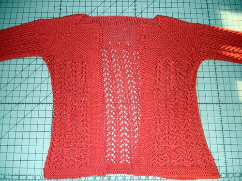 February Lady Sweater Blocking  6-22-2009 7-03-38 PM