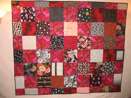 contemporary backing out of 10 inch squares