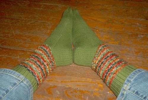 Strange Bedfellows Socks, complete