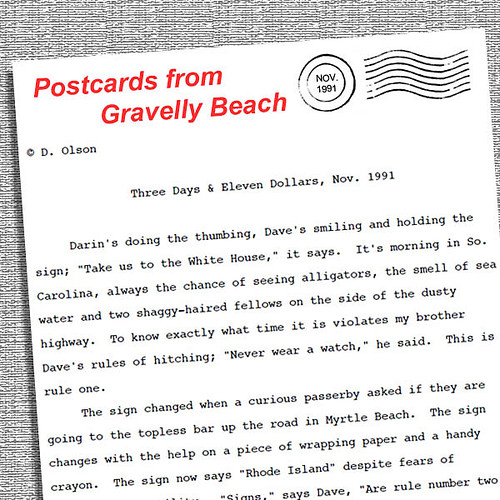 postcards from gravelly beach