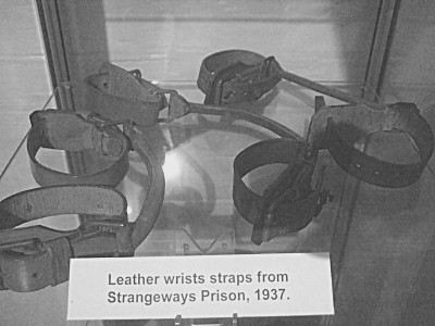 Leather wrist straps used at Strangeways Prison in 1937