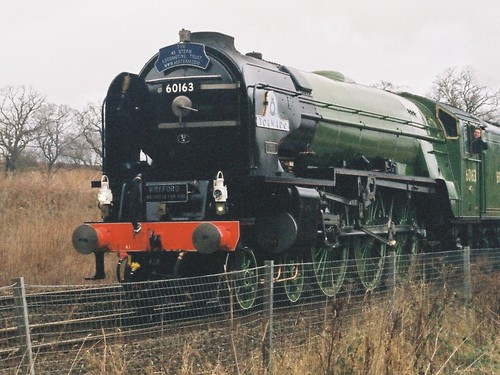 Peppercorn A1 60163 Tornado approaches Dalmeny Junction