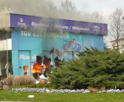 Les flammes  sont éteintes au Port-du-Rhin, mais la polémique reste brûlante