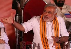 Narendra Modi at a BJP rally