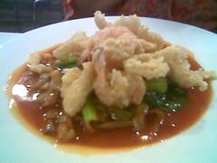 Garden Hotel crispy seafood tomato kway teow