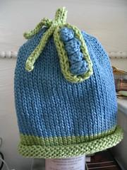 Pea pod baby hat