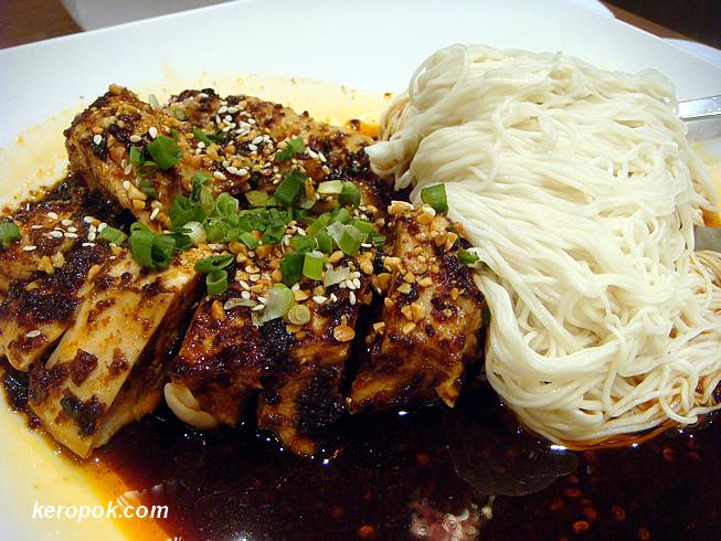 Spicy Shredded Chicken with Dragon Beard La Mian