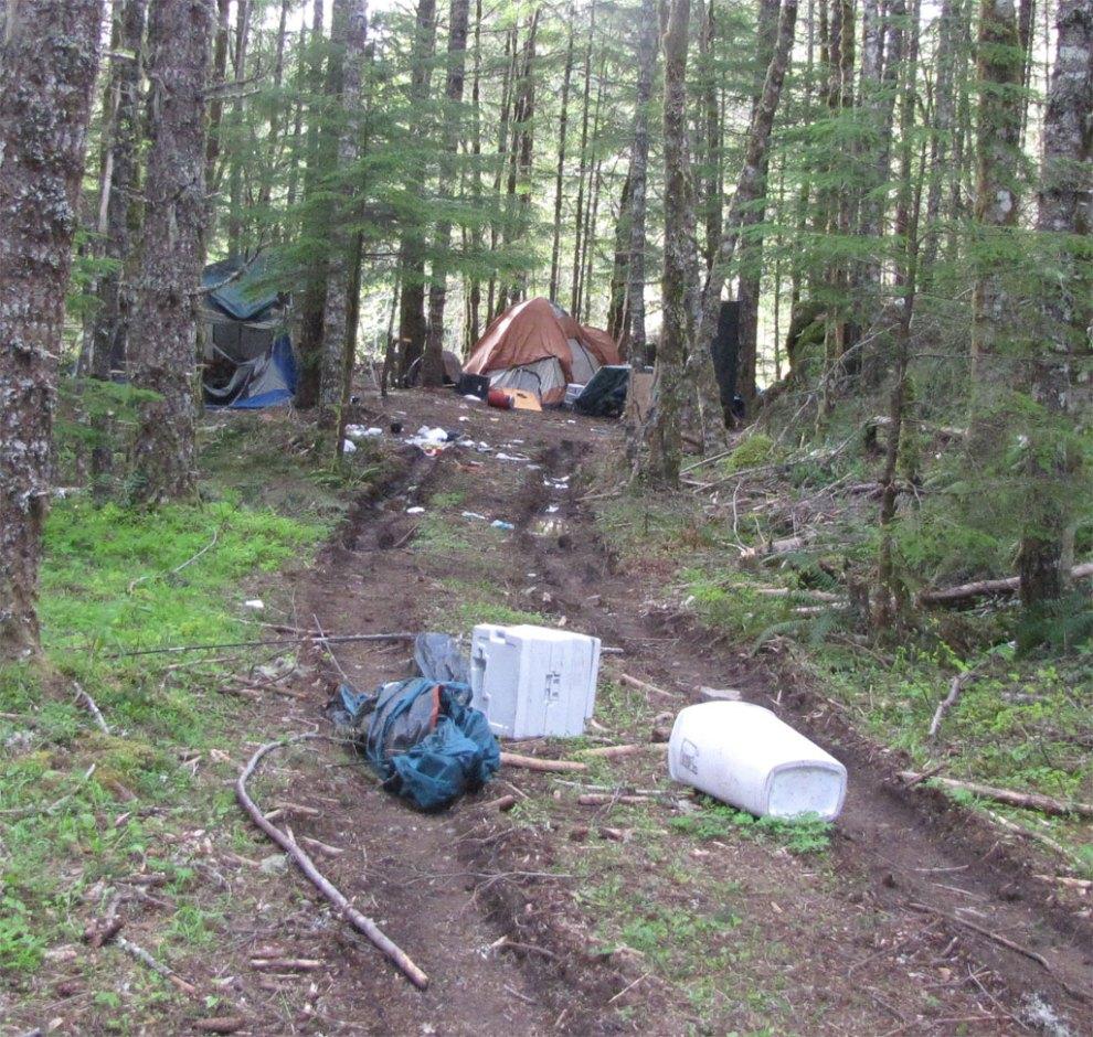 Messy campsite